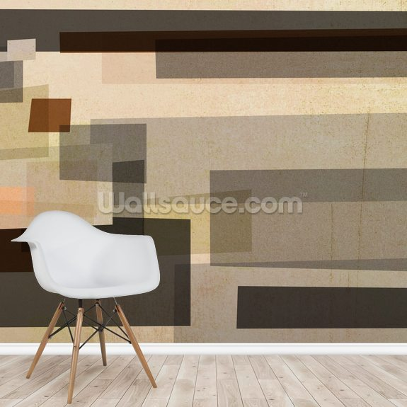 Inner City mural wallpaper room setting