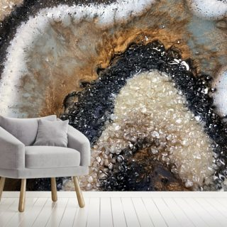 Earthy Geode Wallpaper Wall Murals
