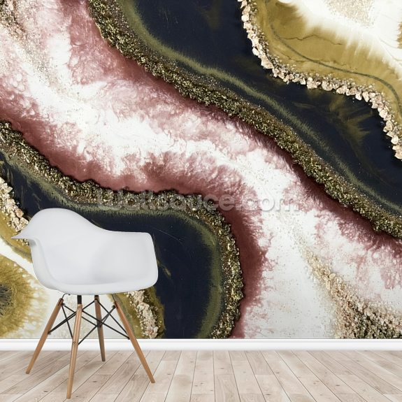 Geode Full mural wallpaper room setting