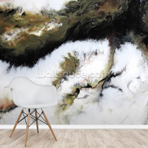 Marble wallpaper mural room setting