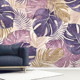 Tropical Leaves Wallpaper Wall Murals