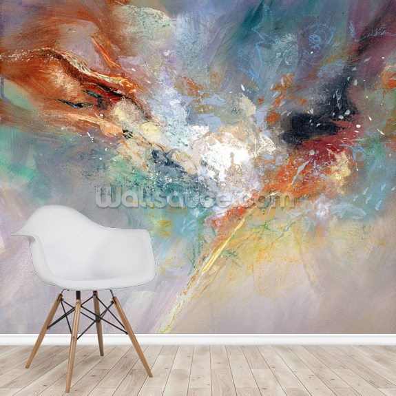 Celestial wallpaper mural room setting