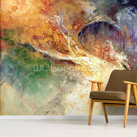 Firmament mural wallpaper room setting