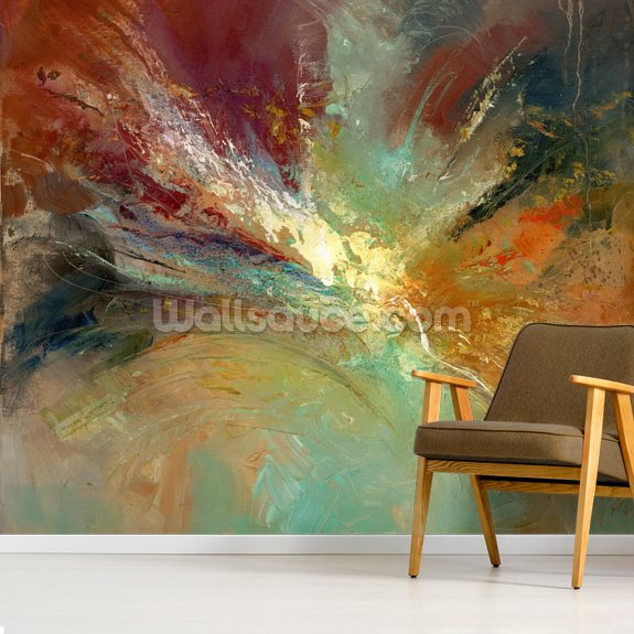 Infinite Sweeping wall mural room setting