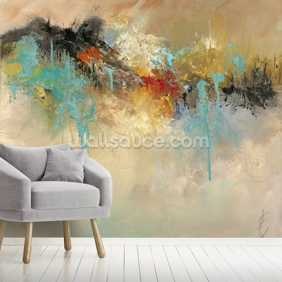 Red Earth wall mural room setting