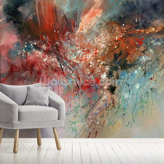 Spirit of Autumn mural wallpaper room setting