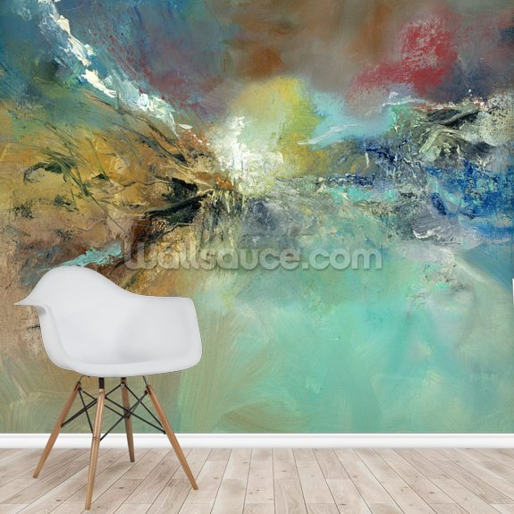 Spirit of Spring wallpaper mural room setting
