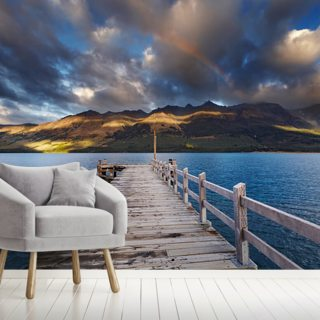 Queenstown - Lake Wakatipu Jetty Wallpaper Wall Murals