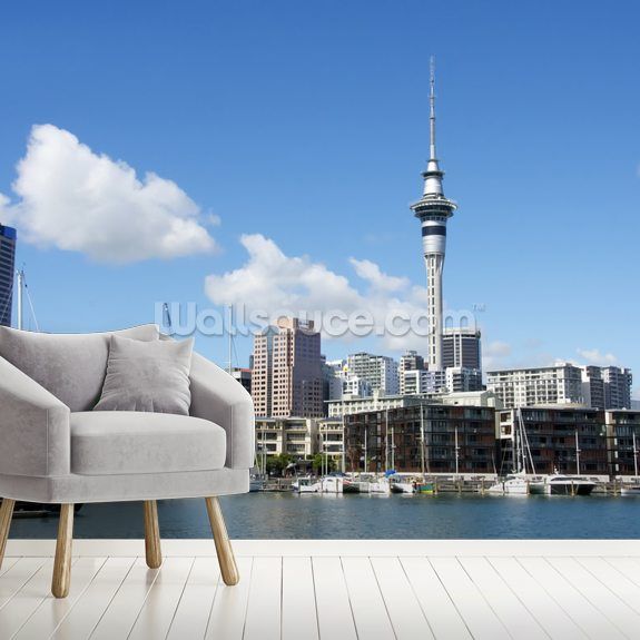 Auckland Cityscape Wall Mural Room Setting