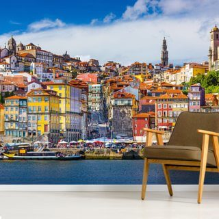 Colourful Historic Porto Wallpaper Wall Murals