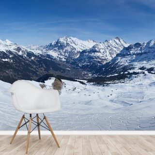 Swiss Alps Ski Wallpaper Wall Murals