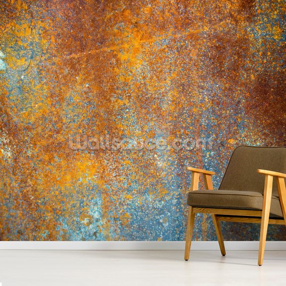 Beautiful Rust mural wallpaper room setting