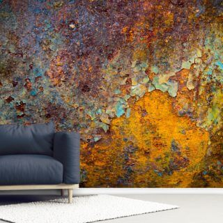 Metal Rust Effect Wallpaper Murals Wallsauce Uk