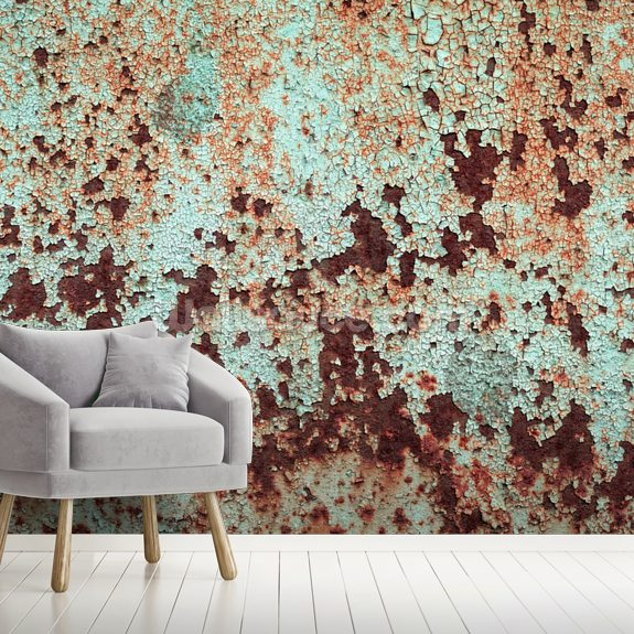 Corroded Artistic Metal wallpaper mural room setting