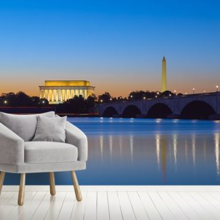 Monument Reflections at Twilight Wallpaper Wall Murals