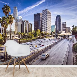 Downtown LA Freeway Wallpaper Wall Murals