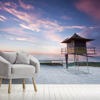 Gold Coast Lifeguard Hut Wallpaper Wall Murals