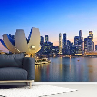 Singapore Skyline Wallpaper Wall Murals