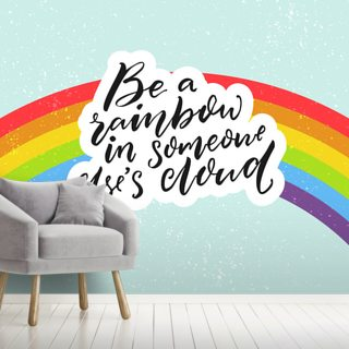 Be A Rainbow Wallpaper Wall Murals