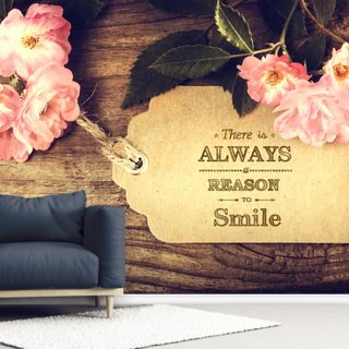 Always Smile Quote Wallpaper Wall Murals