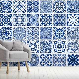 Blue Tiles Bundle Wallpaper Wall Murals
