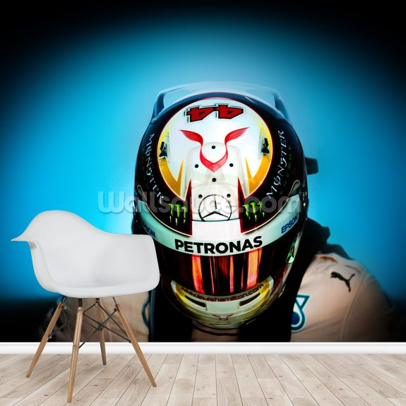 Lewis Hamilton wall mural room setting