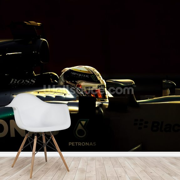 Lewis Hamilton Profile wallpaper mural room setting