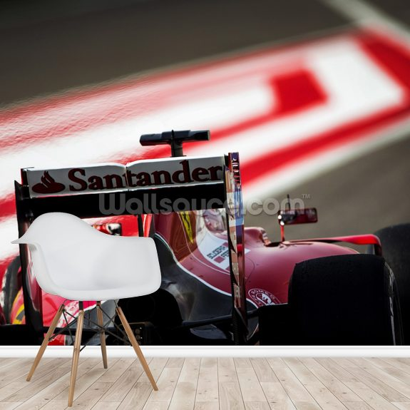 Sebastian Vettel Bahrain GP 15 mural wallpaper room setting