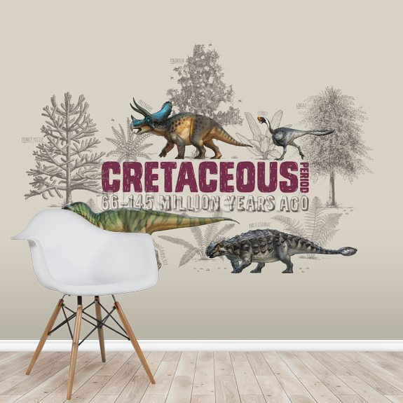 Cretaceous Period wallpaper mural room setting