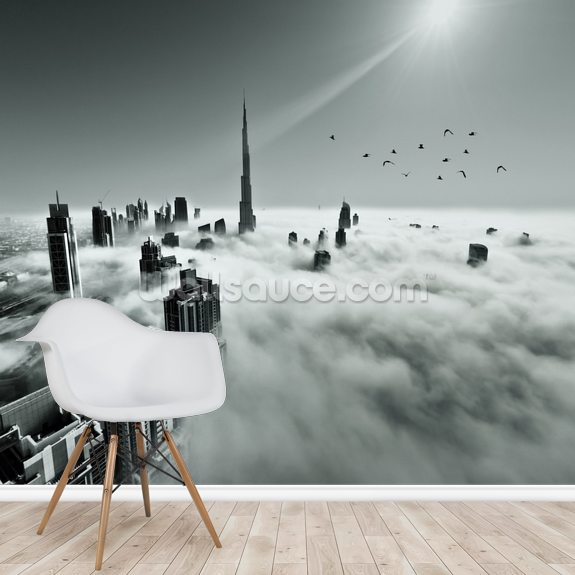 Cloud City wallpaper mural room setting