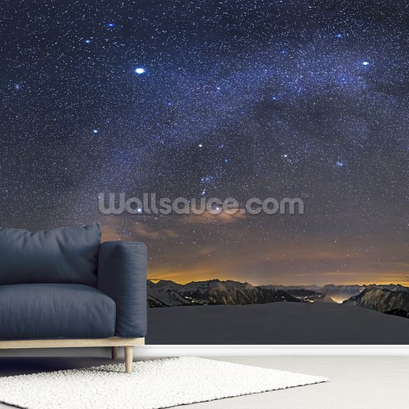 Under the Starbow mural wallpaper room setting