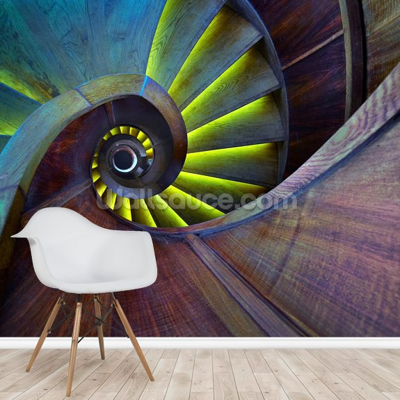 Crazy Eye mural wallpaper room setting