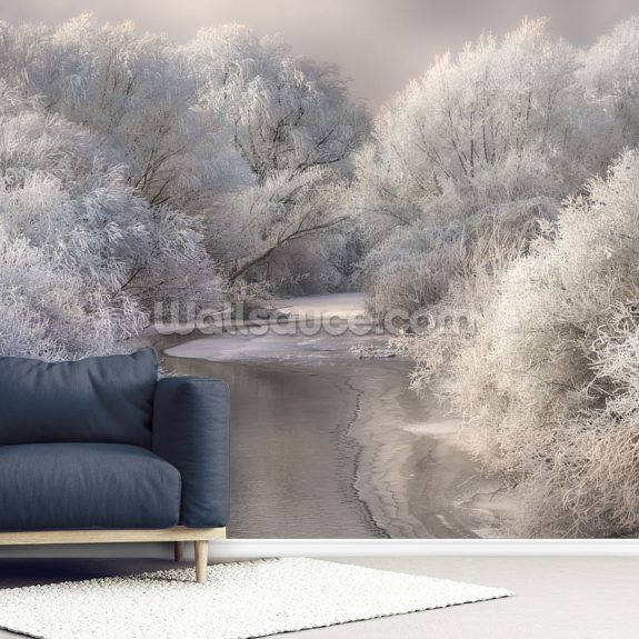 Winter Trees wall mural room setting