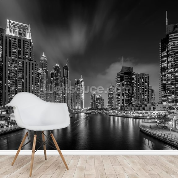 Dubai Marina wallpaper mural room setting