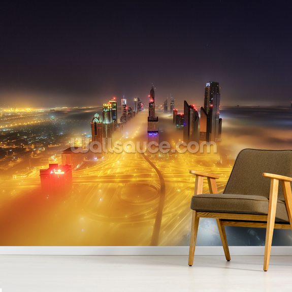 Abu Dhabi wall mural room setting