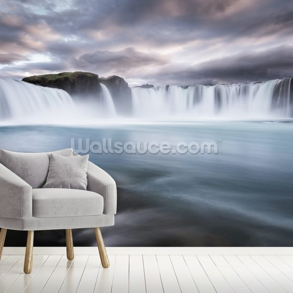 Bruarfoss mural wallpaper room setting
