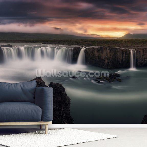 Fire and Water wallpaper mural room setting