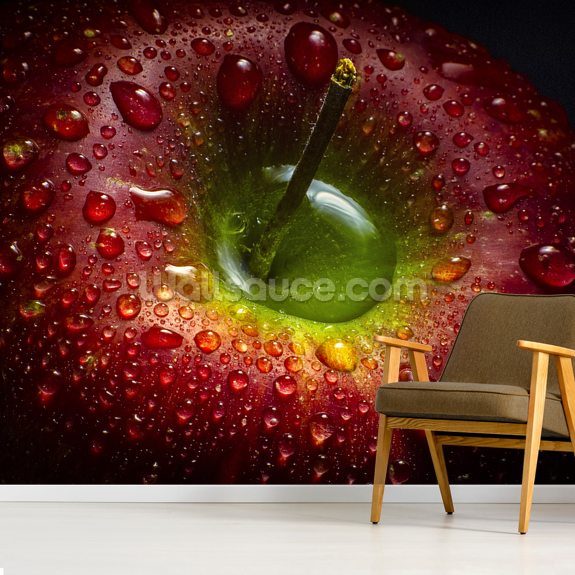 Red Apple wall mural room setting