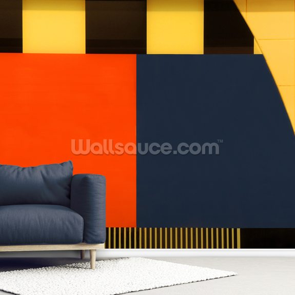 Test Screen wallpaper mural room setting