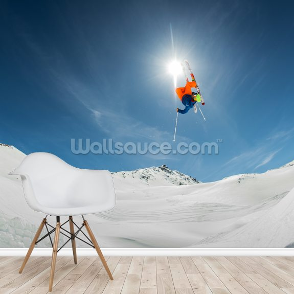 Big Air mural wallpaper room setting