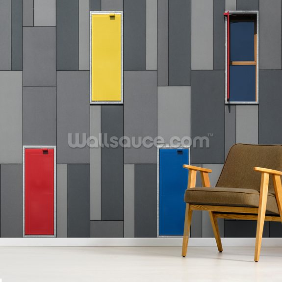 Three Colours and a Window wall mural room setting