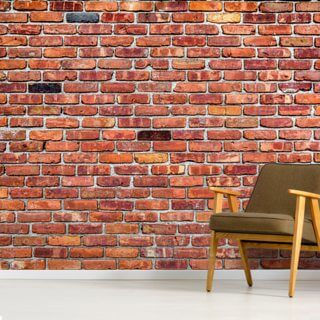 quirky red brick wallpaper