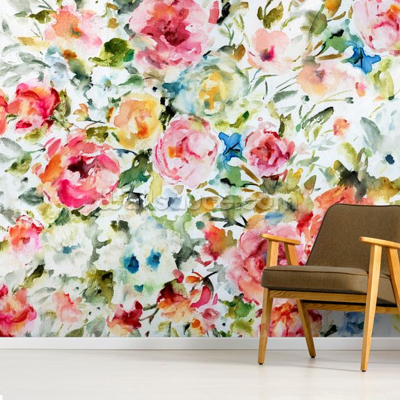 Summer Indulgence wallpaper mural room setting