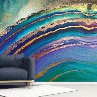 Rainbow Agate Island Wallpaper Wall Murals