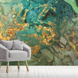 Emerald Marble Wallpaper Wall Murals