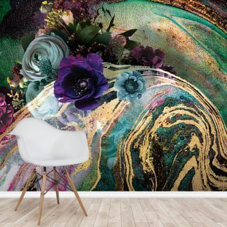 Marble Floral New Master Wallpaper Wall Murals