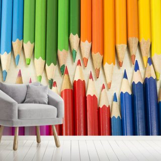 Colourful Pencils Wallpaper Wall Murals