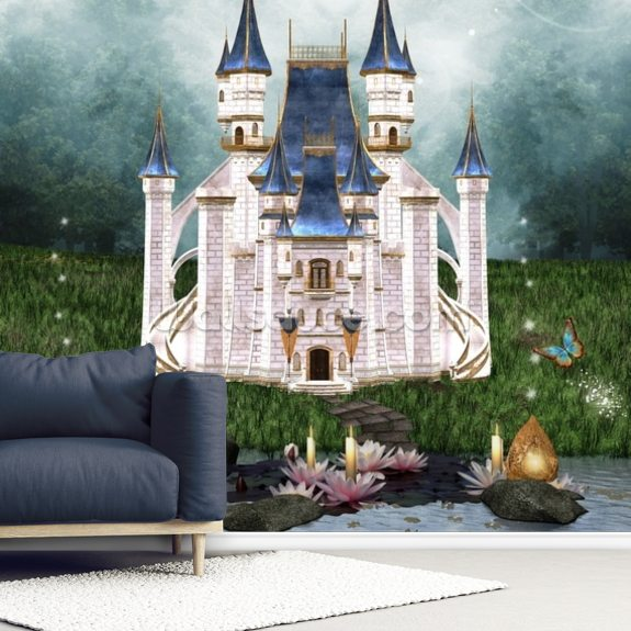 Enchanted Castle wall mural room setting