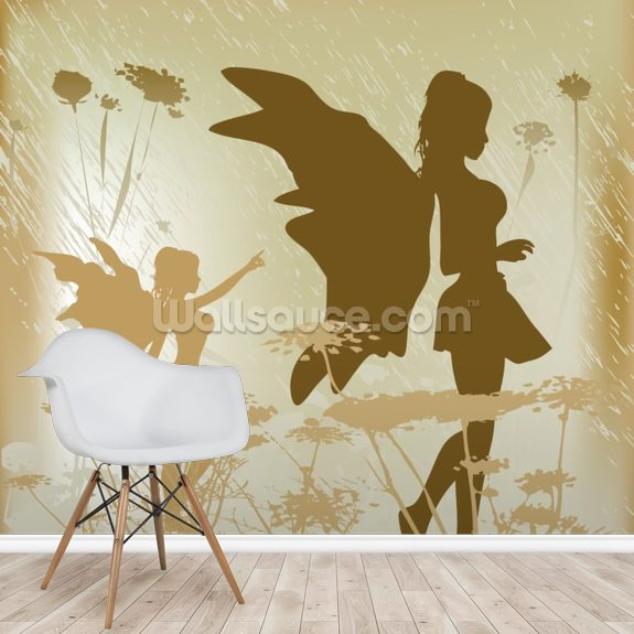 Fairy Background wall mural room setting