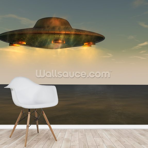 UFO - Unidentified Flying Object mural wallpaper room setting
